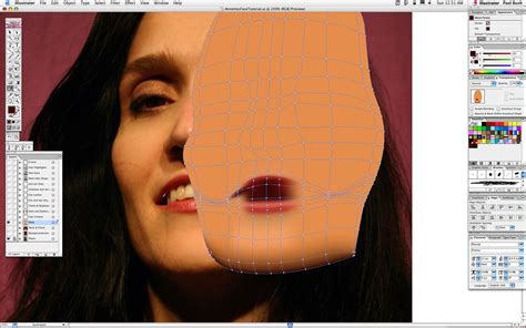 adobe illustrator mesh pattern adobe illustrator gradient mesh portrait tutorial adobe