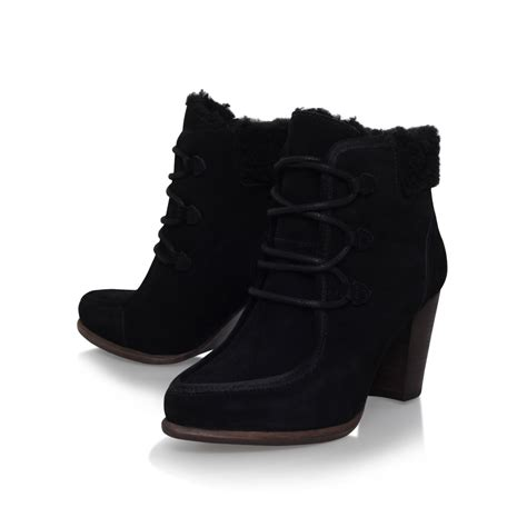 lace up ugg boots ugg analise lace up ankle boots in black lyst