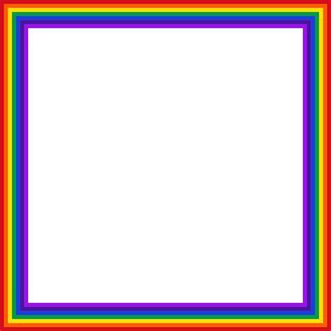 clip cornici rainbow frame clipart clipground