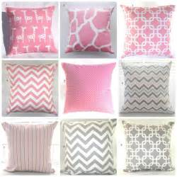 Nursery Decorative Pillows Pillows Pink Grey Baby Nursery Decorative Throw Pillows Throw Pillows Giraffes Elephants