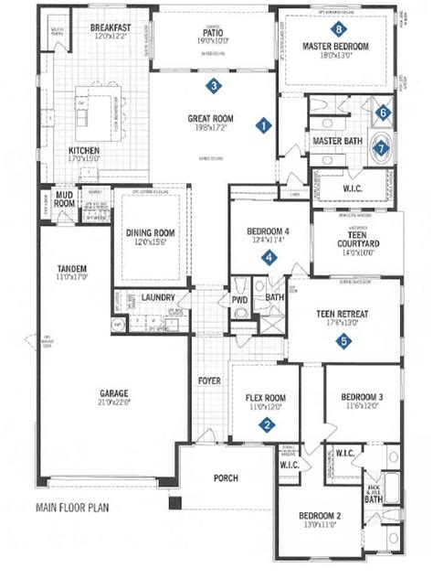 mattamy homes floor plans mattamy homes quinlan floor plan dove mountain