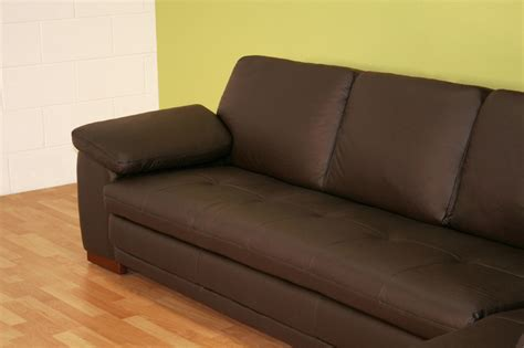 Leather Sofa With Chaise by Wholesale Interiors Leather Sofa With Chaise Brown