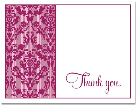 Thank You Card Note Template by Thank You Note Cards Template 5 Best Templates Ideas