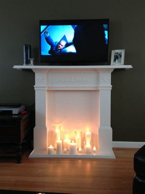 diy faux fireplace tv stand future mansion