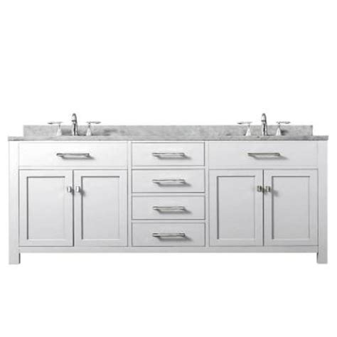 home depot 72 inch bathroom vanity water creation madison 72 in vanity in modern white with