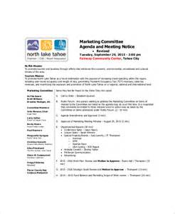 Marketing Agenda Template by 10 Marketing Meeting Agenda Templates Free Sle