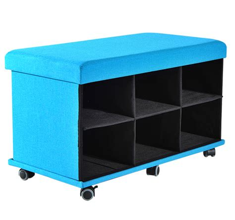 rolling ottoman with storage homcom foldable rolling ottoman storage large bench seat