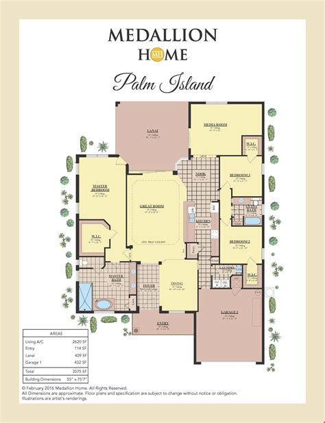 palm island home plan by medallion home in lakes of mount