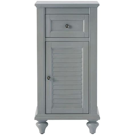Linen Storage Cabinet Home Decorators Collection Hamilton 35 In H X 17 In W Linen Storage Cabinet In Grey 0567300270