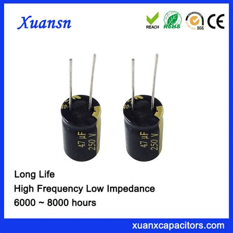 capacitor lifespan hours factory directly high voltage 250v 47uf electrolytic capacitor 8000hours
