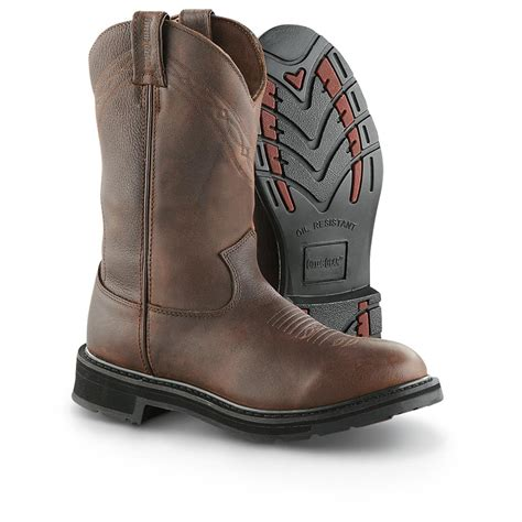 guide gear s 11 quot pull on work boots 607621 work