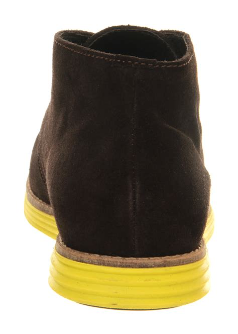 ask the missus jupiter chukka boots brown suede yellow