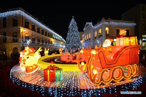 christmas decorations lights in s china s macao all