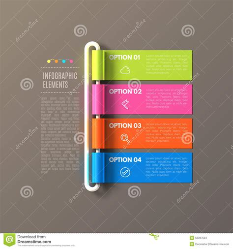 layout banner download banner steps business infographic template stock vector