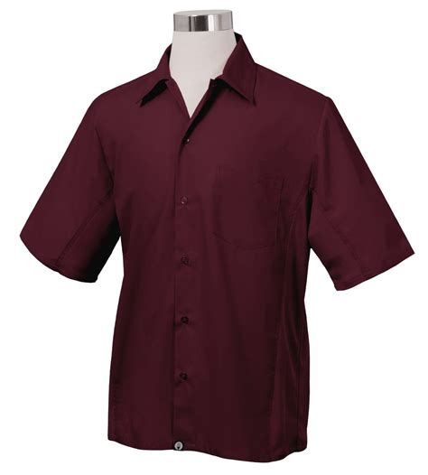 Kitchen Shirts by Chef Works Universal Cool Vent Kitchen Shirt Merlot