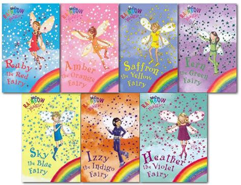 7 Book Series I by Rainbow Magic Colour Fairies Collection 7
