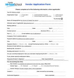Vendor Application Template Free vendor application template 12 free word pdf documents