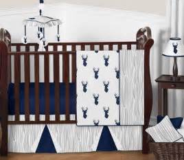 Navy And White Crib Bedding Navy And White Woodland Deer Baby Bedding 11pc Boys Crib Set By Sweet Jojo Designs Only 189 99