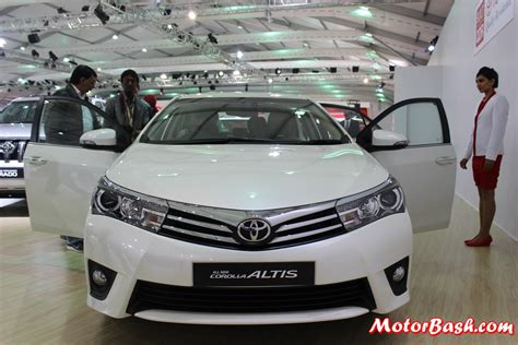 new toyotas for auto expo new toyota corolla altis interior pics details