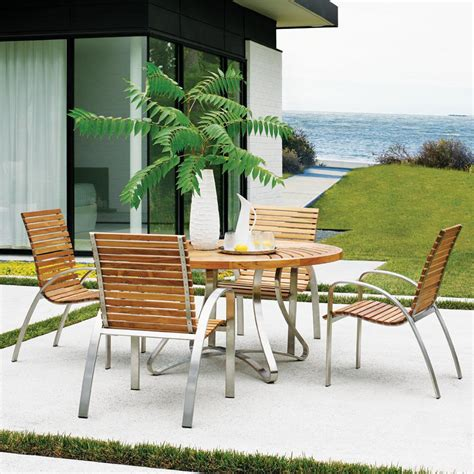 bahama outdoor dining set bahama tres chic 4 person teak patio dining set