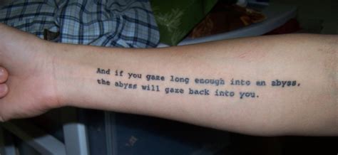 friedrich nietzsche tattoos contrariwise literary tattoos