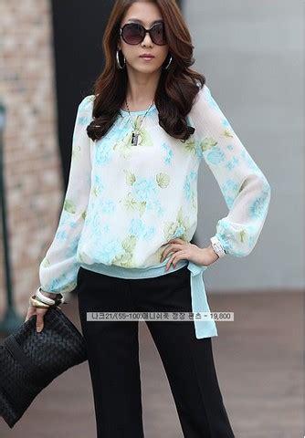 Blouse Wanita Import Floral penyakit baby blouse lace henley blouse