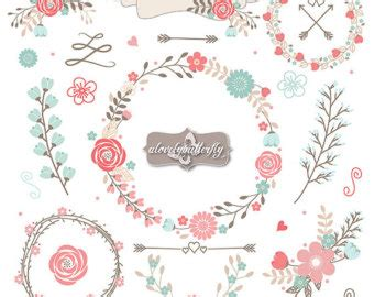 shabby chic clip rustic flower clipart clipart suggest