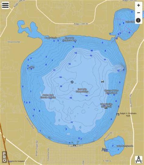 east lake tohopekaliga fishing map us fl east lake