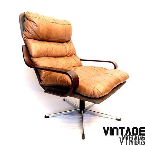 leren fauteuil te koop deense vintage design patchwork cognac leren fauteuil