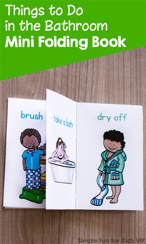 things to do in the bathroom mini folding book simple
