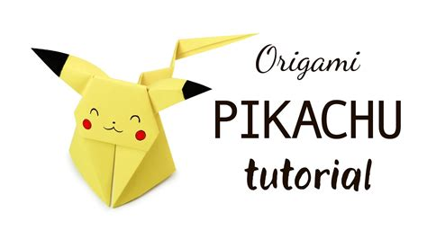 tutorial origami pikachu origami pikachu tutorial pokemon diy paper kawaii