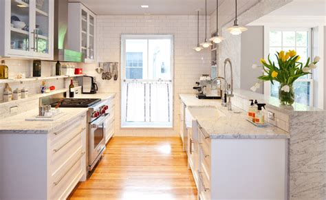 19 pictures before and after modern galley kitchen before