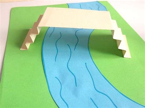 How To Make A River Out Of Paper - pooh sticks for crafts