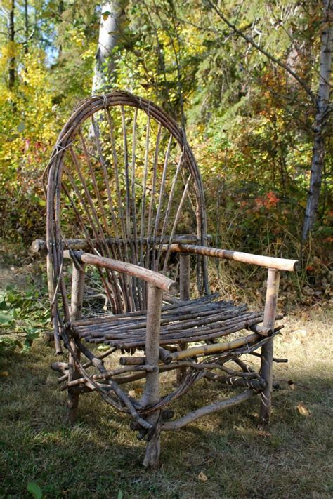 bent willow furniture for the garden rustic twig pinterest