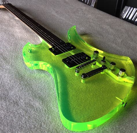 bc rich guitars mockingbird green transparent acrylic