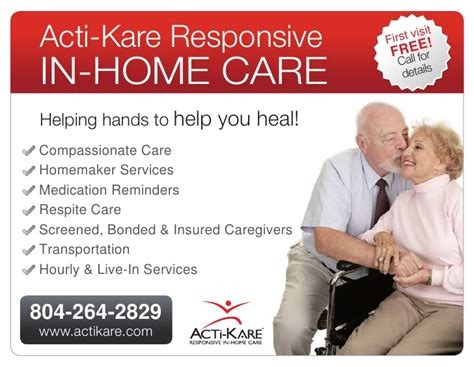 acti kare in home care new ad senior care elder care