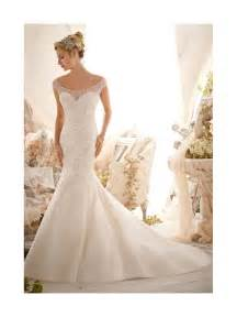 mori lee 2617 crystal wedding dress ivory tulle fishtail style
