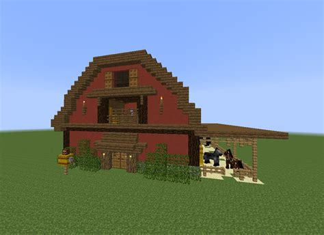 scheune in minecraft minecraft tutorial how to build a barn