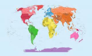 Map Of The World Continents by Map Of The World Continents