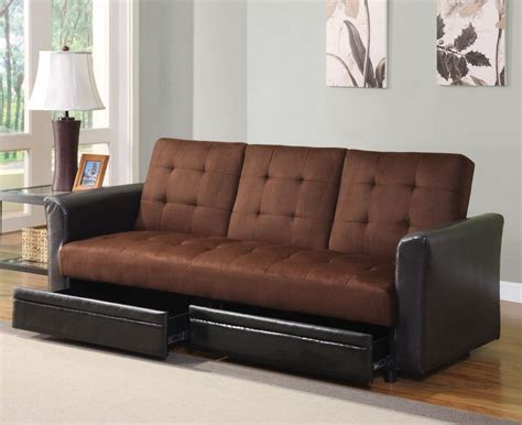 best futon best futon sofa bed with storage for gray living room