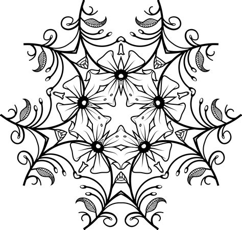 black and white designs clipart black and white floral design 3
