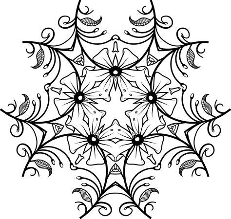 design flower black and white clipart black and white floral design 3