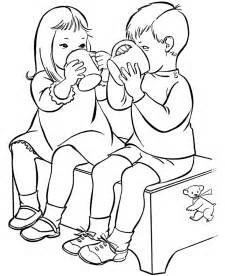 children sharing coloring pages coloring