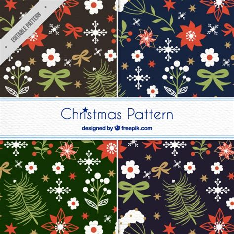 svg pattern collection christmas pattern collection vector free download