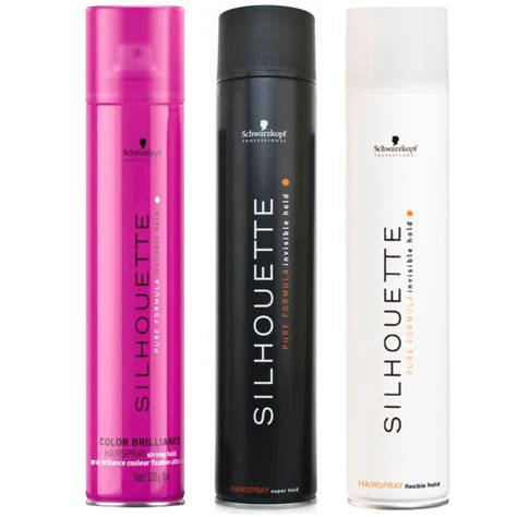schwarzkopf silhouette hair spray 750ml all types j and