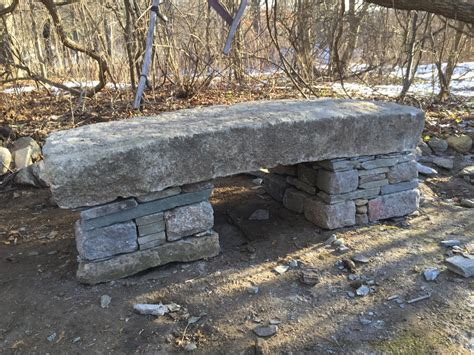 stacked stone bench dry stack stone bench concord stoneworks