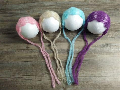 Handmade Props - newborn mohair hat bonnet cap props fishbone flower