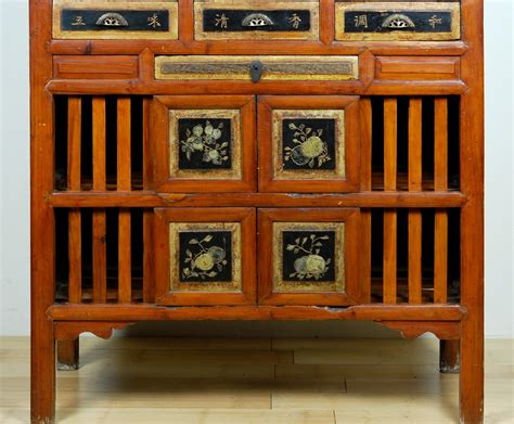 antique kitchen pantry cabinet fujian pine wood
