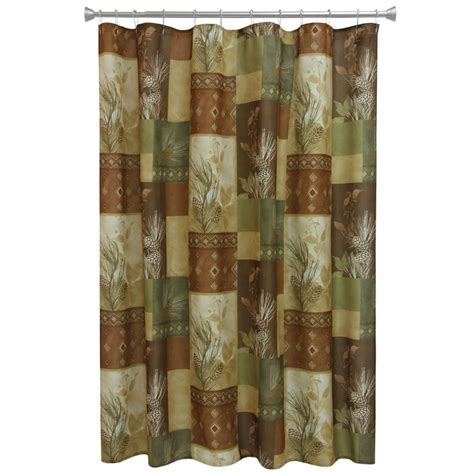 Pine Cone Diamond Shower Curtain