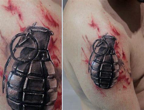 grenade tattoo 50 grenade designs for explosive ink ideas